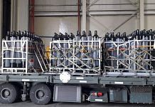 Two C-130 aircraft of Republic of Singapore Air Force arrived at Panagarh Air base with a batch of oxygen cylinders, on 28 April 2021 | PTI