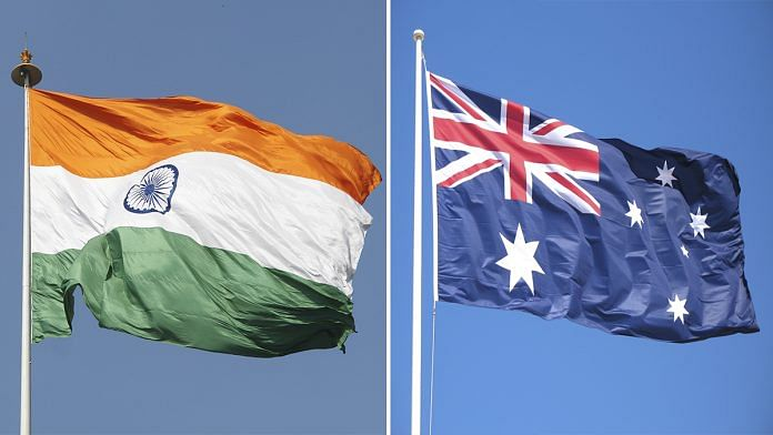 Indian and Australian flags (representational image) | Wikipedia