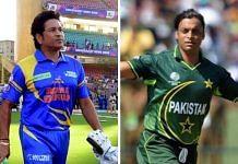 Former cricketers Sachin Tendulkar and Shoaib Akhtar   Commons