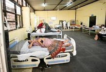 A transition room for Covid patients waiting for beds at MG hospital, Bhilwara | Rohit Jain Paras | ThePrint