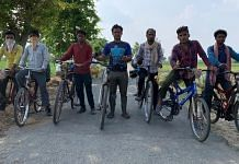File photo | The seven Bihari workers who made their way from Ghaziabad to Bihar on cycles during the 2020 lockdown | Vinod Kapri | HarperCollins