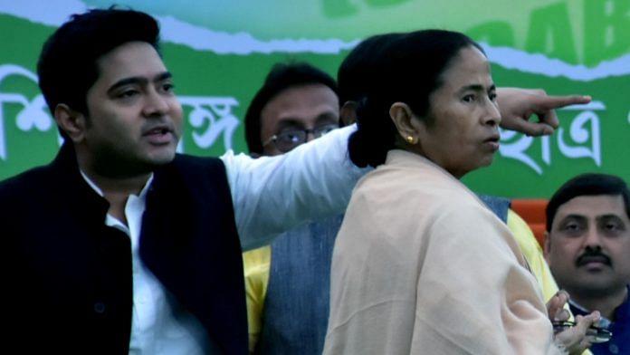 File image of West Bengal CM Mamata Banerjee with her nephew and Trinamool MP Abhishek Banerjee | ANI