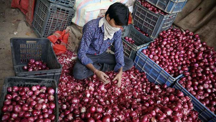 Representational image of an onion seller at Delhi's Azadpur Mandi   File photo: ANI