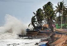 Rough sea weather conditions due to the formation of Cyclone Tauktae in the Arabian Sea, in Thiruvananthapuram, on May 15, 2021 | PTI
