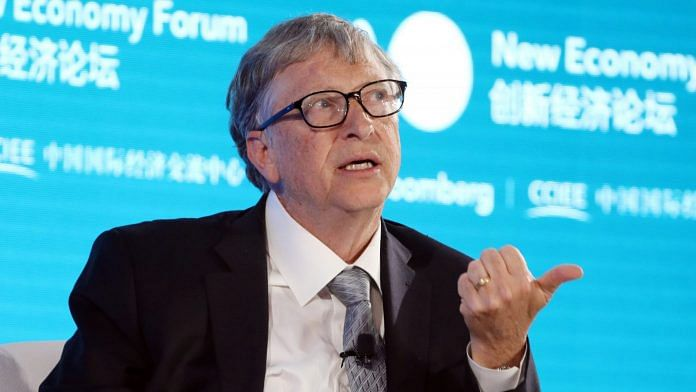 Bill Gates speaking during the Bloomberg New Economy Forum in Beijing, China 2019 | Photographer: Takaaki Iwabu | Bloomberg File Photo