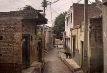 Dogs roam a deserted lane in Basi (Representational image) | Photographer: Anindito Mukherjee | Bloomberg