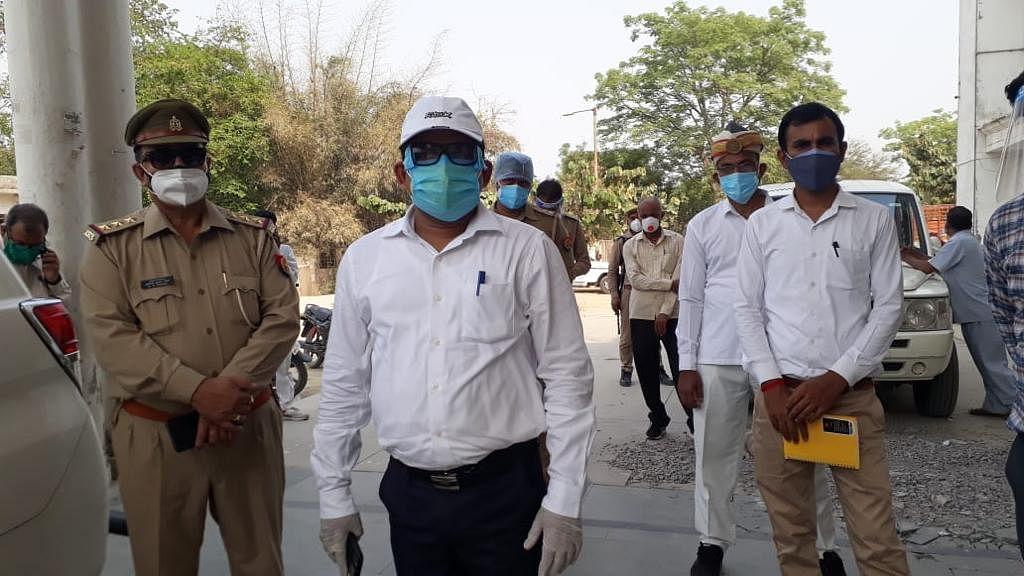 Ayodhya DM Anuj Kumar Jha at the Dasratha Medical College on Saturday | Photo: Moushumi Das Gupta | ThePrint