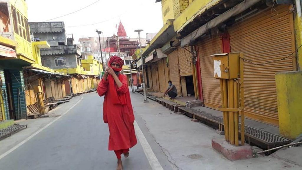 A deserted road in the temple town of Ayodhya | Photo; Moushumi Das Gupta | ThePrint