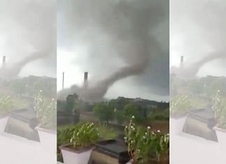 A screenshot of a video posted on social media of the tornado in Bengal on 25 May 2021   Dipayan Sain   Twitter