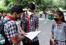 Representational image of students revising for a CBSE board exam | File photo: ANI