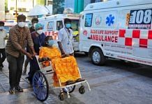 Representational image | A patient being wheeled into Rajiv Gandhi Government General Hospital in Chennai | Suraj Singh Bisht | ThePrint