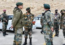 File photo of Army Chief General M.M. Naravane at Leh to review security situation and operational preparedness along the Line of Actual Control in Eastern Ladakh | Photo: Twitter | @adgpi