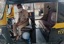 Dattatray Sawant in his autorickshaw 'ambulance' | Photo: Angana Chakrabarti