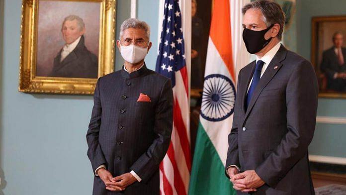 External Affairs Minister S. Jaishankar with US Secretary of State Antony Blinken   Photo: Twitter/@DrSJaishankar