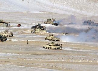 File photo of Indian and Chinese troops disengaging from the banks of the Pangong lake area in eastern Ladakh | ANI