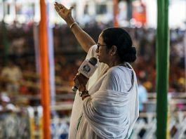 File photo of West Bengal CM Mamata Banerjee speaking during an election campaign rally | Photographer: Prashanth Vishwanathan | Bloomberg