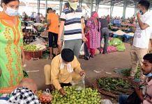 People shop at a vegetable mandi in Jalandhar, Punjab, in April 2021 | ANI