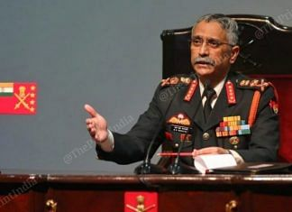 Army chief General M.M. Naravane is among the handful of officers allowed to interact with the press   Photo: Suraj Singh Bisht   ThePrint