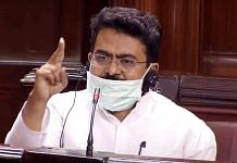 Congress MP Rajiv Satav during a session in the Rajya Sabha, in New Delhi