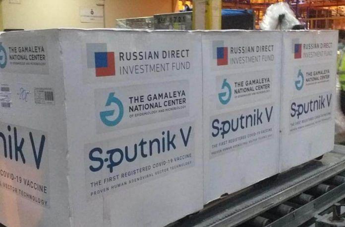 A batch of Sputnik V vaccine doses at an airport in Sri Lanka   Twitter/@sputnikvaccine