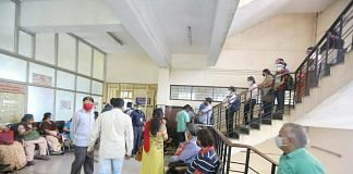 Bengaluru residents wait to be vaccinated at the city's Bowring and Lady Curzon Hospital | Praveen Jain | ThePrint