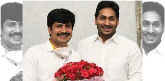 Newly-elected Tirupati MP Maddila Gurumoorthy (left) with Chief Minister Y.S. Jaganmohan Reddy | Twitter/@YSRCParty