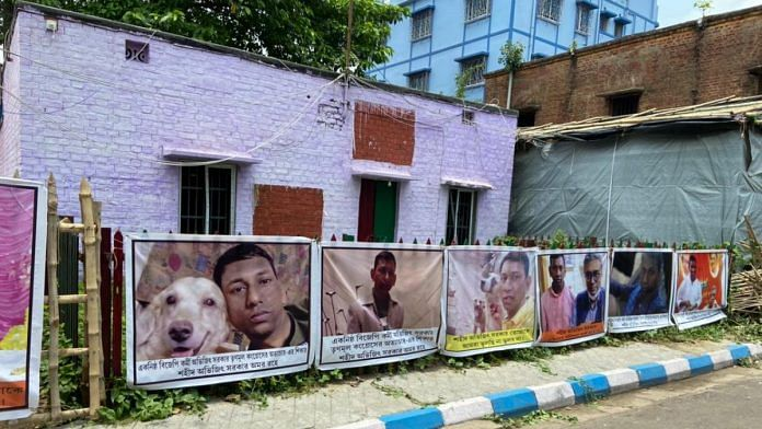 Home of Abhijit Sarkar, a 35-year-old BJP worker and an idol maker in North Kolkata, who was killed on 2 May   Photo: Madhuparna Das/ThePrint