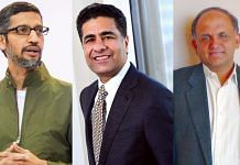 Indian-American CEOs Sunder Pichai from Google (left), Punit Renjen from Deloitte (middle) and Shantanu Narayen from Adobe (right) | Bloomberg/Commons/Flickr