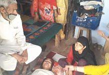 Family members of Faisal at their home in Bangarmau   Photo: Prashant Srivastava