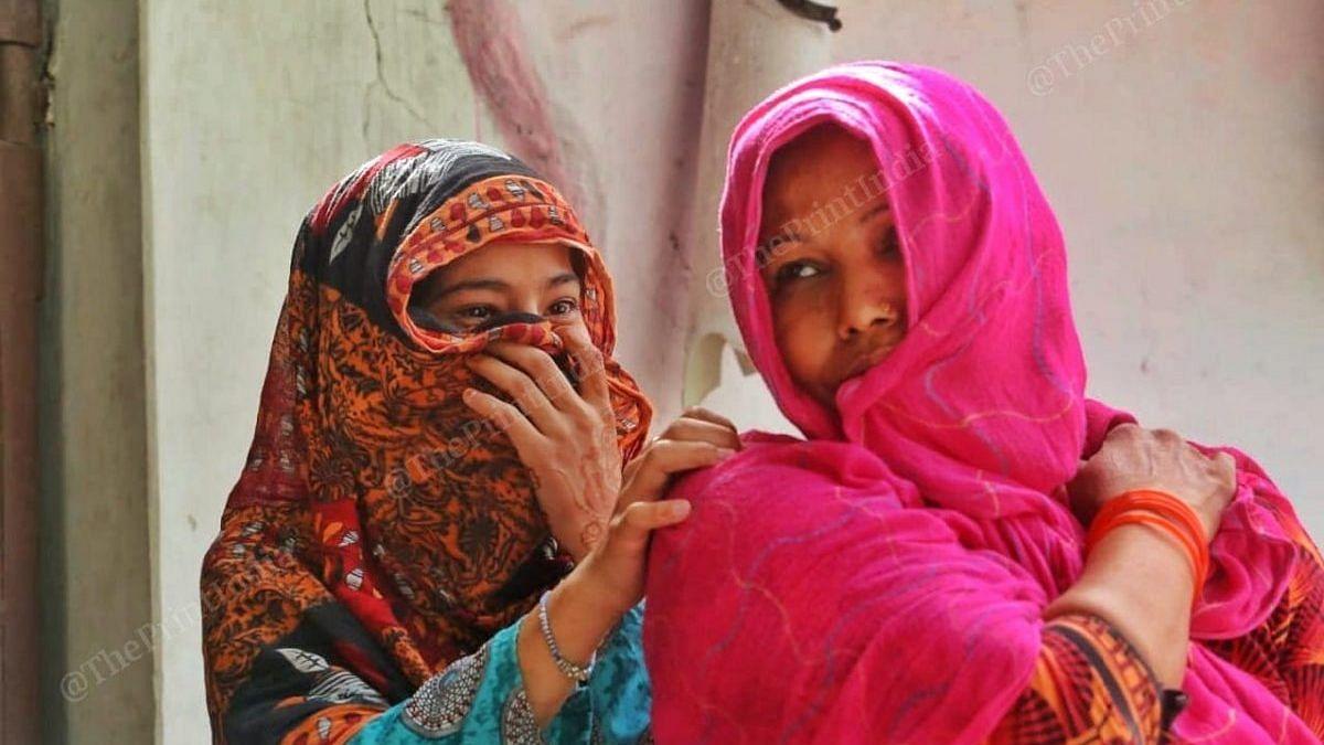38-year-old Salma (right) who runs a paan shop | Photo: Praveen Jain/ThePrint