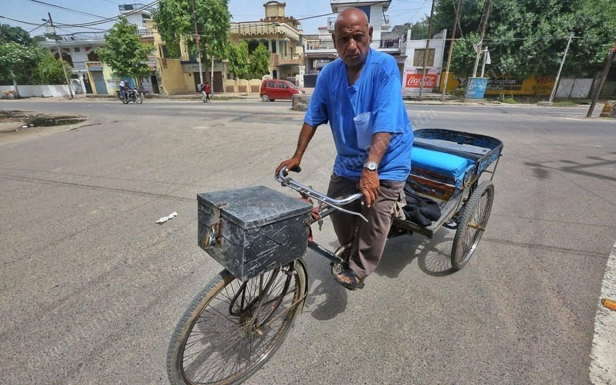 62-year-old Sunder Lal, a rickshaw puller, says he has never taken an injection in his life | Photo: Praveen Jain/ThePrint