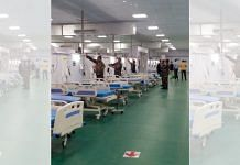The Indian Armed Forces sets up a 750-bed temporary Covid Hospital at Banaras Hindu University in Varanasi on Sunday | Representational Image | ANI