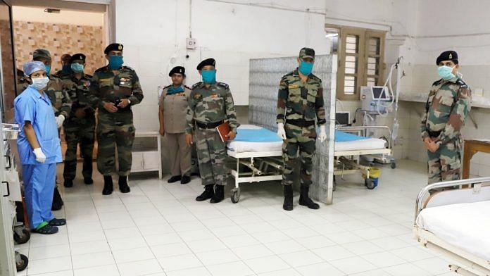 A file photo of a Covid ward set up at an Army hospital, in Prayagraj. | Photo: ANI