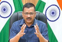 Delhi CM Arvind Kejriwal addresses the media on Covid-19 vaccination campaigns, on 11 May 2021 | PTI