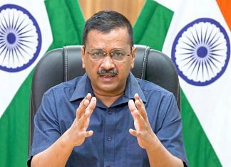 Delhi CM Arvind Kejriwal addresses the media on Covid-19 vaccination campaigns, on 11 May 2021   PTI