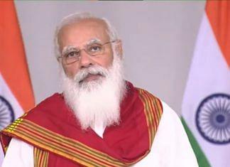 Prime Minister Narendra Modi speaking at the Vesak Day programme, on 26 May 2021 | PTI