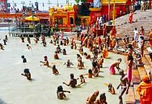 Pilgrims take a dip in the Ganga during Kumbh Mela | Image for representation only | ANI