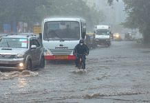 Heavy rain due to Cyclone Tauktae leads to waterlogging in Andheri, Maharashtra on 17 May 2021