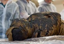 Body of a pregnant woman which was turned into a mummy
