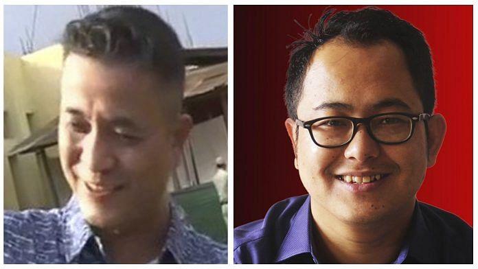 File photos of journalist Kishorechandra Wangkhem and activist Erendro Leichombam | ANI & Facebook