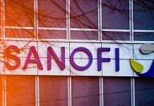 A logo at the Sanofi campus in the Gentilly district in Paris, France | Photographer: Nathan Laine | Bloomberg