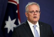 Australian PM Scott Morrison speaks during a news conference in Sydney, on 7 May 2021 | Photographer: Brendon Thorne | Bloomberg