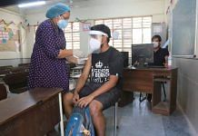 File photo of a man being vaccinated against Covid in Delhi | Manisha Mondal | ThePrint