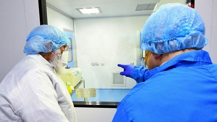 A file photo of Prime Minister Narendra Modi reviewing the development of Covid-19 vaccine candidate ZyCoV-D at Zydus Biotech Park in Ahmedabad in November 2020. | Photo: ANI