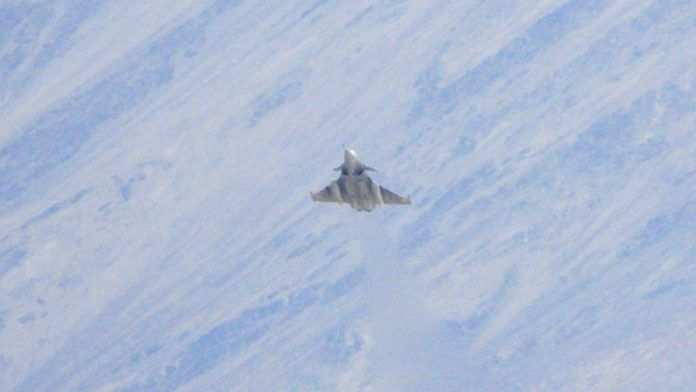 A Rafale fighter jet of the IAF seen flying in Leh last month | ANI