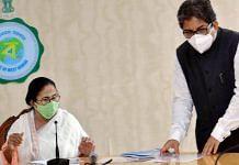 CM Mamata Banerjee with Alapan Bandyopadhyay during a meeting, in Kolkata | Photo: PTI