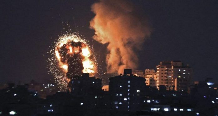 Israel and Hamas announced a ceasefire last month following days of violence that saw the two sides attack each other with airstrikes and rockets | File photo | Photographer: Mahmud Hams/AFP/Getty Images | Bloomberg