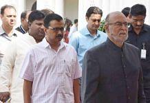 File photo of Delhi CM Arvind Kejriwal and L-G Anil Baijal | ThePrint