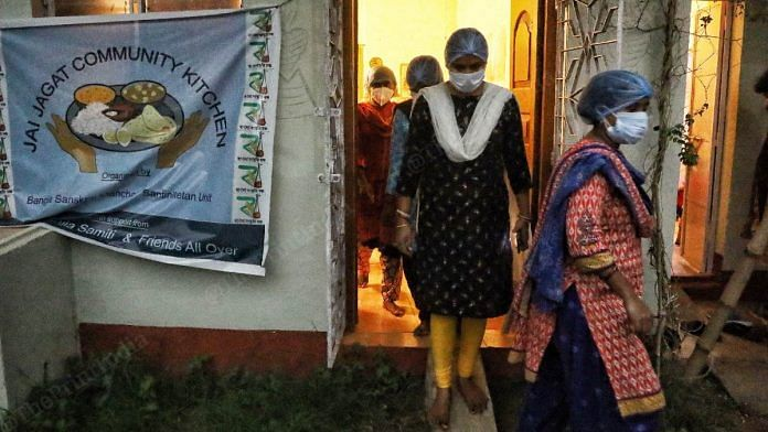 The all-women team provides cooked meals to 60-70 Covid-affected families every day | Manisha Mondal | ThePrint