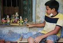 Neel Kumbhakar, 12, shows off his unique brand of terracotta figures   Manisha Mondal   ThePrint
